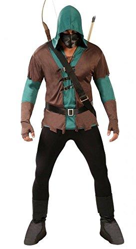 Geheimnisvoller Bogenschütze Herren Kostüm Robin Hood Basic Held -