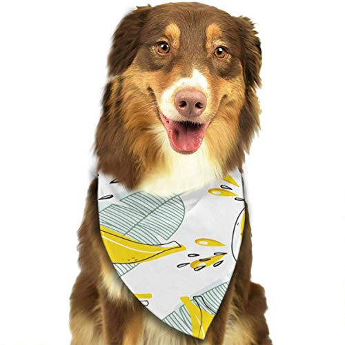 Rghkjlp Dogs Bandana Collars Banana Leaf Pets Triangle Neckerchief Puppy Bibs Scarfs Cats Scarfs Towel