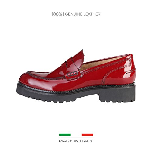 MADE IN ITALIA Mocassino Shoes ROSSO EU 36