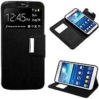 Funda Flip Cover Samsung G7105 Galaxy Grand 2 Liso Negro