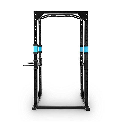 Capital Sports Tremendour Power Rack Homegym Kraftstation Fitness-Rack (Konstruktion aus Stahl-Kantrohr, inkl. Multigripp-Klimmzugstange, nach Wahl mit oder ohne Latzugturm) -
