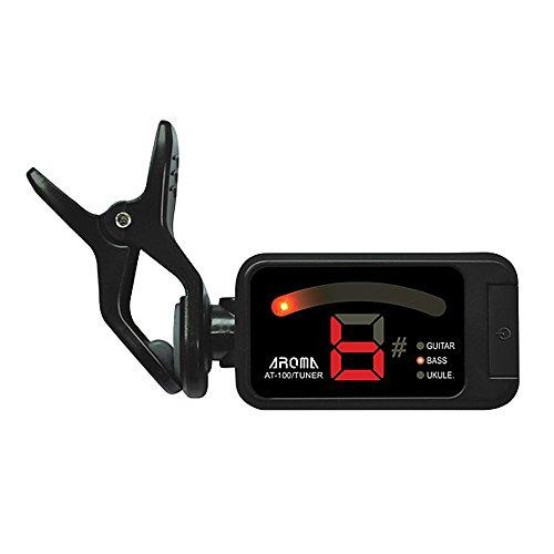 ammoon Aroma AT-100 Clip-on Sintonizzatore Chitarra Elettrica Cromatico Bass Ukulele Universale Portatile