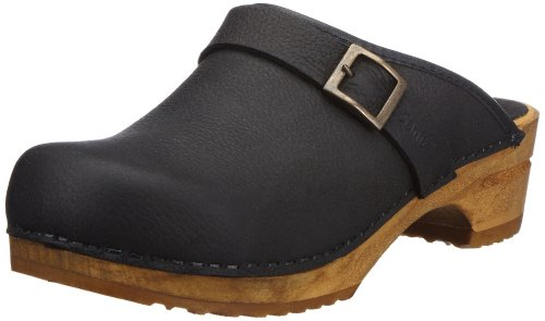 Sanita Wood Sigrid 457290/2, Damen Clogs, Schwarz (Black), 42 EU / 8 UK
