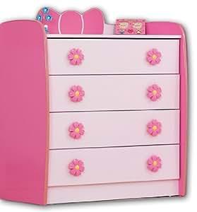 """Commode pour filles rose princesse """"armoire avec tiroirs"""