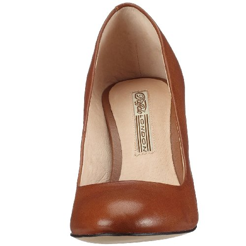 Buffalo London 109-5046 BABY BILL LEATHER 108869 Damen Pumps, Braun (COGNAC 01), EU 41 -
