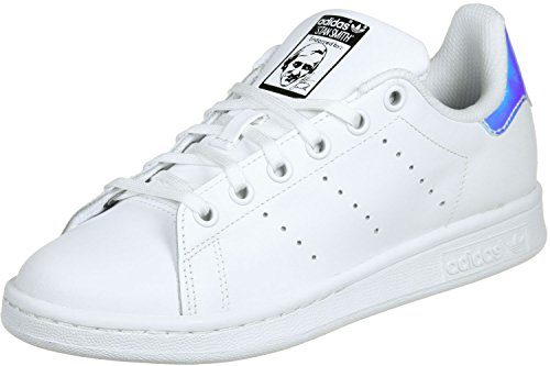 adidas Stan Smith J Blanc Metallic Argent Blanc 37