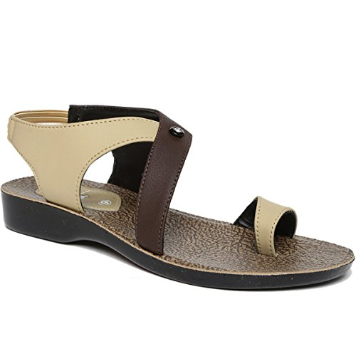 PARAGON Women's Beige Fashion Sandals-7 UK/India (41 EU)(PU7064L)