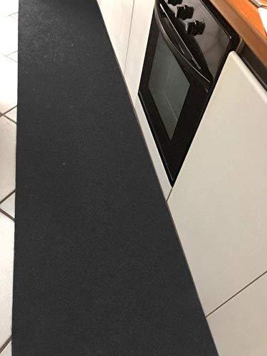 M.service srl tappeto/passatoia multifunzione in moquette - sotto lavello - adatto per cucina e bagno - antiscivolo - elevata resistenza - mis. h 67 x 300 cm (antracite)