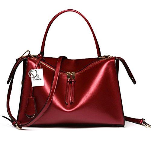 Borse in vera pelle di Yoome borse da donna Borse a tracolla borse a tracolla per borse da donna - blu Rosso