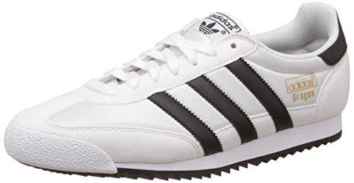 Evergreen Spikes (adidas Herren Dragon OG Gymnastikschuhe, Elfenbein (Ftwr White/Core Black/Gold Met.), 44 2/3 EU)