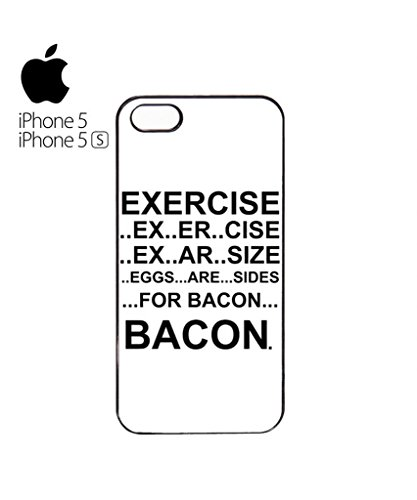 Eggs are Sides for Bacon Mobile Cell Phone Case Cover iPhone 5c Black Blanc