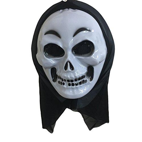 takestop® Set 2Maske Masken Skelett Gesicht Lächeln Scream Killer Halloween Cosplay Kostüm (Scream Gesicht Maske)