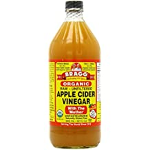 Bragg Organic Apple Cider Vinegar withThe 'Mother' Raw-Unfiltered 16oz (case of 3)