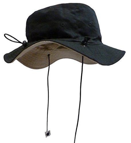 Sun Caps TM N'Ice Caps Unisex Kids Reversible and Adjustable Cotton Twill Aussie Hat