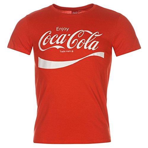 coca-cola-maglietta-da-uomo-rosso-top-maglietta-red-xl