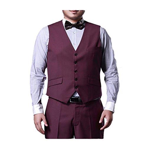 Zhuhaitf Affaires Formelles Mens Plus Size Blazer Suit Vests Button Sleeveless Waistcoat purple