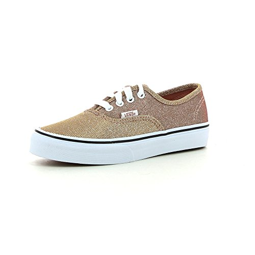 Vans Authentic Glitter (Vans  K Authentic,  Unisex Kinder Hohe Sneakers , Braun - Marrón Claro - Größe: 27 EU)