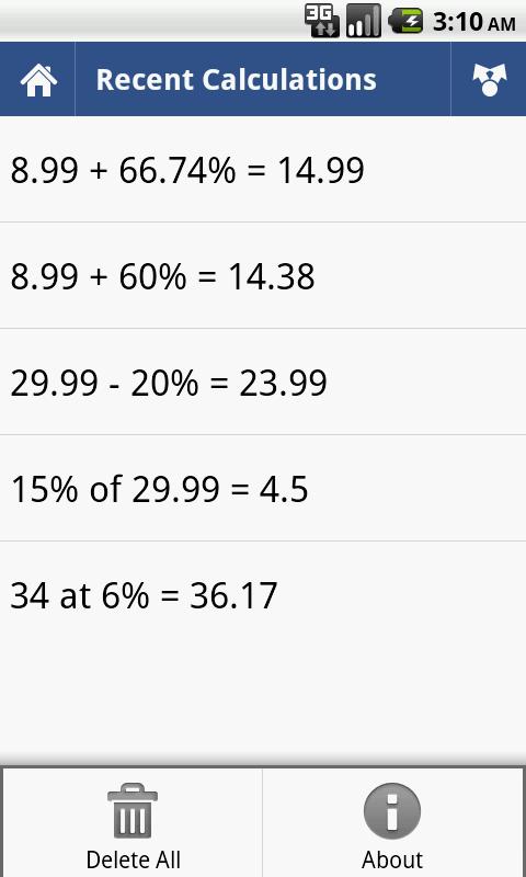 How to calculate percentage in calculator.