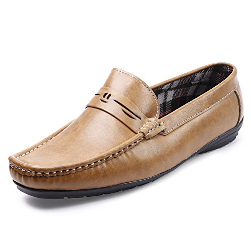 Arthur Men's Camel Color Synthetic Loafers Size_8  available at amazon for Rs.499