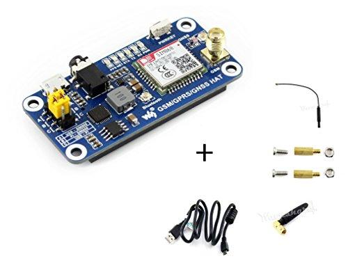 Preisvergleich Produktbild Raspberry Pi GSM / GPRS / GNSS Bluetooth HAT Expansion Board GPS Module SIM868 Compatible With Raspberry Pi 2B 3B 3B+ Zero Zero W Support Make a Call, Send Messagess, Data Transfer