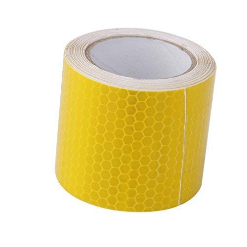 Srovfidy 3m nastro adesivo riflettente di sicurezza auto avvertimento camion, Yellow, 5cm*3m