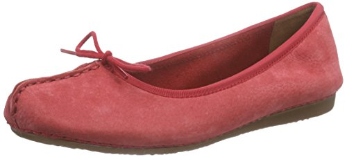 Clarks Freckle Ice, Mocassins (Loafers) Femme - Rouge (Red Nubuck), 37.5 EU