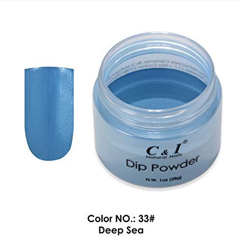 C & I Dipping Powder plongée Powder couleur N ° 033 Deep Sea Bleu Couleur Système