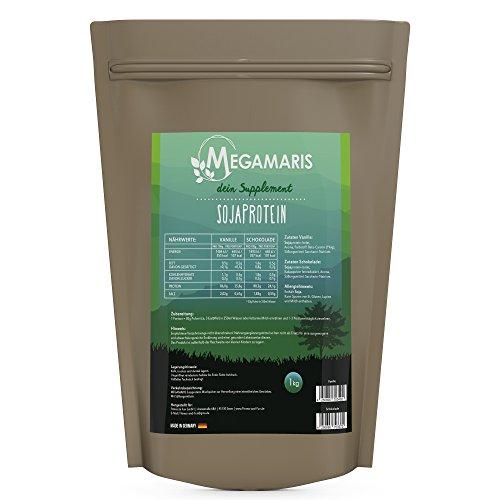 Megamaris Soja Eiweiss 1 x 1000g Beutel Soja Protein Isolat Vegan Lactosefrei (Vanille)