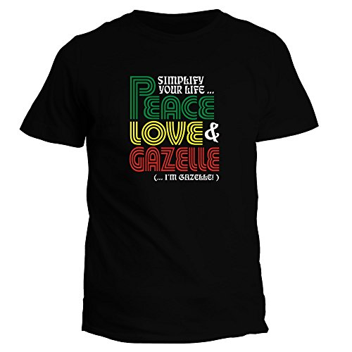 idakoos-simplify-your-life-peace-love-gazelle-im-gazelle-hommes-t-shirt