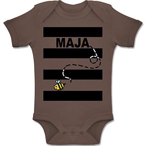 Shirtracer Karneval und Fasching Baby - Bienen Kostüm Maja - 6-12 Monate - Braun - BZ10 - Baby Body Kurzarm Jungen ()