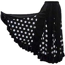 selecte-plus - Falda de Baile para Mujer, Color Blanco y Negro, Talla