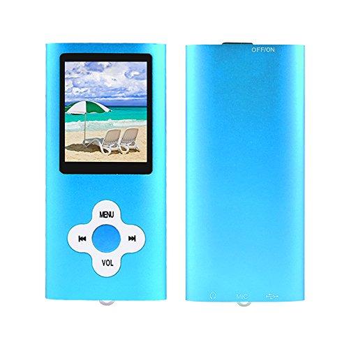 Btopllc Lettore MP3,lettore MP4 16GB,lettore musicale MP3 portatile,lettore di musica digitale MP3/MP4 Player classico ricaricabile/lettore multimediale/lettore audio/lettore multimediale - blu