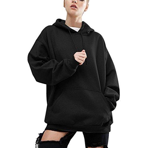 WOCACHI Damen Frühling und Herbst Langarm Blusen Mode Frauen Langarm Plus Größe S-5XL Sweatshirt Casual Oversize Loose Bluse Tops Kapuzenpullover 4XL/48