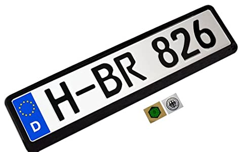 COMPLETE Germany German EEC European Front LICENSE PLATE TAG and FRAME (Set / Kit) for BMW 1 3 5 6 7 8 Series M3 M5 M6 303 315 318 320 i 321 325 326 327 328 329 335 340 501 502 503 525 527 535 507 600 700 720 725 735 755 1500 1600 1800 2000 2002 2500 2800 3.0S 3.0Si 3.3Li CSi