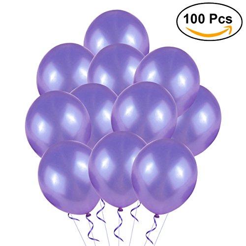 NUOLUX Hochzeitsballons, 12-Zoll-Latex-Ballon für Party, 100pcs (lila)