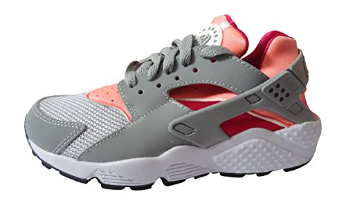 Nike - Wmns Air Huarache Run, Scarpe sportive Donna light magnet grey bright mango 086