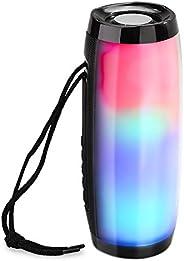 مكبر صوت بلوتوث لاسلكي مع إضاءة LED، مكبر صوت ستيريو هاي فاي محمول لاسلكي، مكبر صوت بلوتوث LED النابضة بالضوء،
