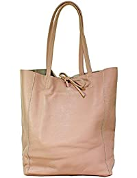 ab37e4579a437 Ital Echt Leder Ledertasche Damentasche Handtasche Shopper Schultertasche