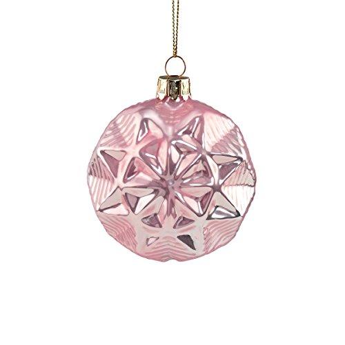 BUTLERS HANG ON Glaskugel Stern Ø 8 cm - Stylische Weihnachtsdeko -...