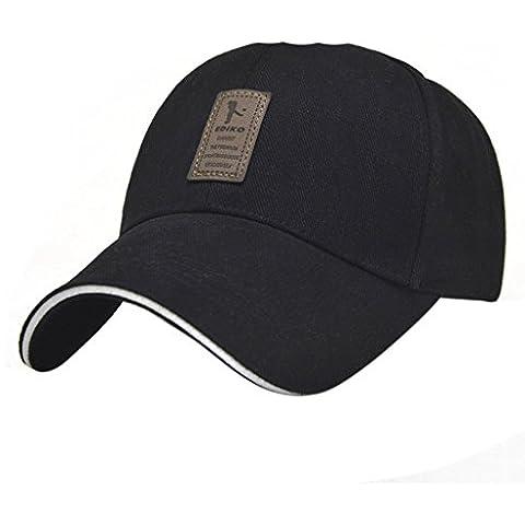 Pure gli uomini di colore esterno del cotone Sport Berretto da baseball cappello di Sun Casual Trucker Cappello escursionismo cappello Snapback Nero