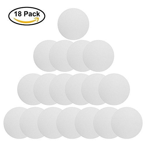 [18 Stück] Anti Rutsch Sticker, Htianc Rund Aufkleber Transparent und Selbstklebend für Badewanne, Dusche und Bad, 10mm Durchmesser