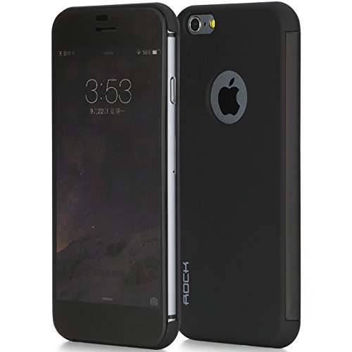 "Rock DR V Smart View Flip Case Cover For iPhone 6 4.7"" - Black back"