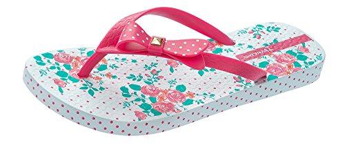Ipanema Pretty Bow Frauen Flip-Flops / Sandalen-White / Pink-40 (Stud-flache Sandale)