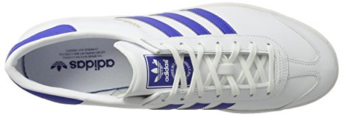 adidas Originals Hamburg, Baskets Homme Blanc (White/bold Blue/gold Metalic)