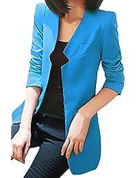 Americana Mujer Primavera Otoño Manga Larga Slim Fit Clásico Especial Oficina Chaqueta De Traje Fashion Elegantes Fiesta Cóctel…