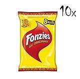 10x Fonzies Multipack mais Maissnack mit Käse chips 10 für 8 Portionstüten á 23g Käsechips