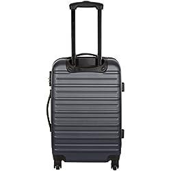 Travel One Set de 3 trolleys rígidos Plateado 70 cm