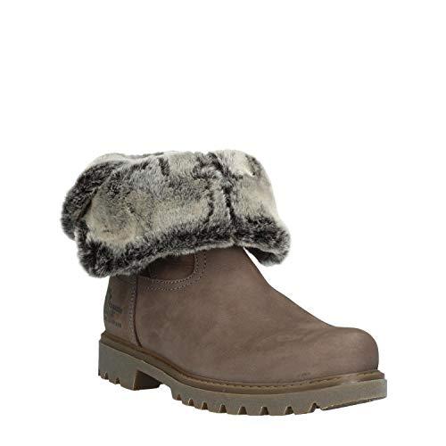 PANAMA JACK Damen Winterstiefel Felia,Frauen Winter-Boots,Fellboots,Fellstiefel,gefüttert,Warm,Wasserabweisend,Grau,EU 38