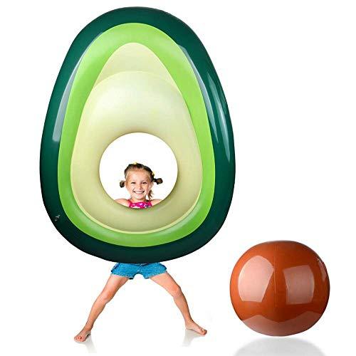SanXingRui Aufblasbare Avocado Luftmatratze Schwimmende Pool Float Avocado Schwimmring Sommer Strand Party für Erwachsen-Kinder (Aufblasbare Avocado)