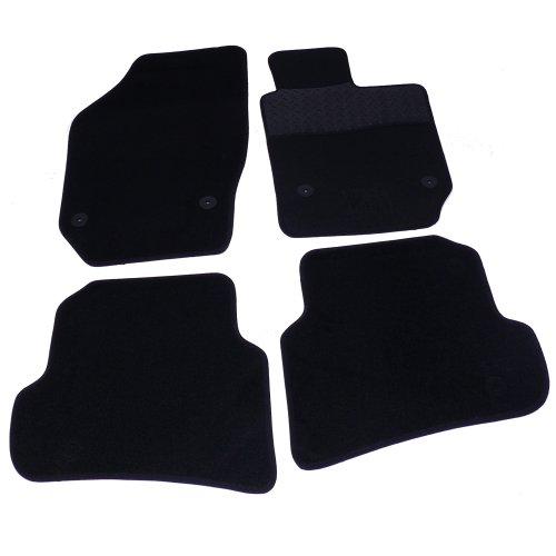 Sakura–Alfombrillas Alfombra goma con tobillos para Seat Ibiza (modelos a partir de 2008), color negro